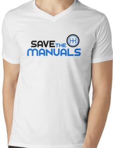 Save The Manuals (3) Mens V-Neck T-Shirt