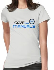 Save The Manuals (3) Womens Fitted T-Shirt