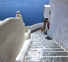 ...the entrance to Santorini - Greece .. by John44