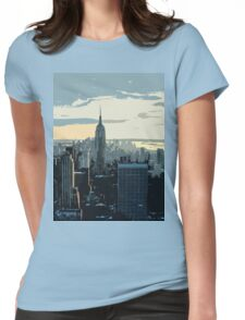 City landscape Womens Fitted T-Shirt