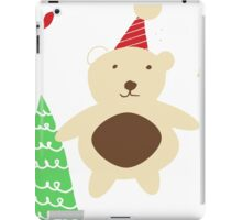 Christmas Bear white iPad Case/Skin