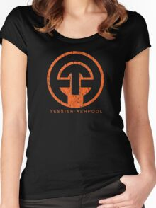 Neuromancer Cyberpunk Tessier Ashpool Corporation Women's Fitted Scoop T-Shirt