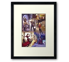 Once Upon A Time - main cast Framed Print