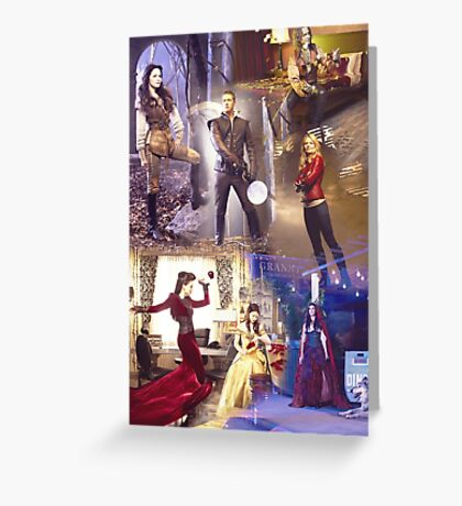 Once Upon A Time - main cast Greeting Card