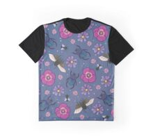 Flowers and insects Graphic T-Shirt