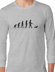 Evolution To Dachshund Funny Long Sleeve T-Shirt