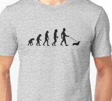 Evolution To Dachshund Funny Unisex T-Shirt
