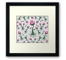 Pink Roses - Pretty Floral Pattern Framed Print