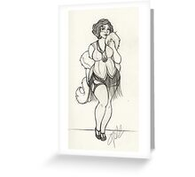 One Fabulous Flapper Girl Greeting Card