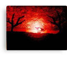 Ashtray Heart Canvas Print