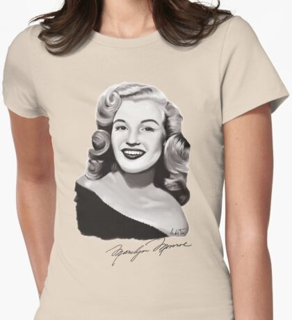 Marilyn Monroe 40s Womens Fitted T-Shirt