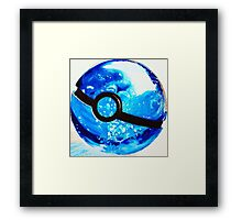 Water great Pokeball Framed Print