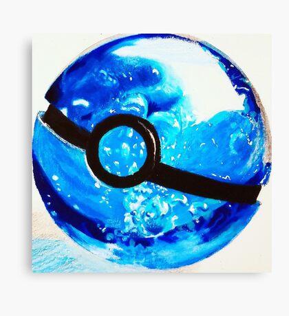 Water great Pokeball Canvas Print