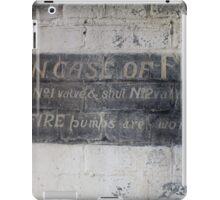 In case of fire iPad Case/Skin