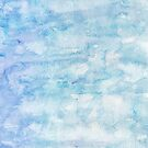 Winter snow, ice and water watercolour wall art home decor and fashion  by Sandra O'Connor