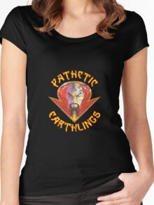 Ming the Merciless - Pathetic Earthlings Distressed Variant Women's Fitted Scoop T-Shirt