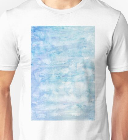 Winter snow, ice and water watercolour wall art home decor and fashion  Unisex T-Shirt