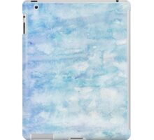 Winter snow, ice and water watercolour wall art home decor and fashion  iPad Case/Skin