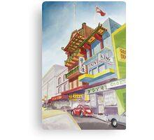 Chinatown Street Scene Canvas Print