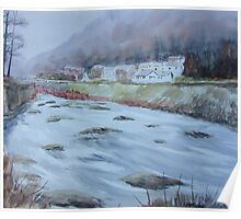 Lynmouth Winter Poster
