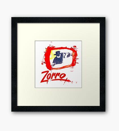 Zorro Zorro Framed Print