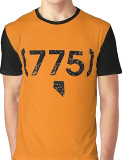 Area Code 775 Nevada Graphic T-Shirt
