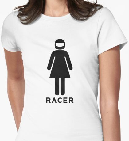 Woman Racer (3) Womens Fitted T-Shirt