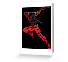 Deadpool Typography Greeting Card