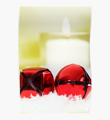 Jingle Bells and Candle Poster