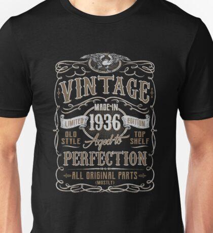 Made In 1936 Birthday Gift Idea Unisex T-Shirt