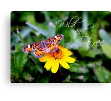 Wild and Free Butterfly Canvas Print