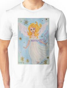 Christmas angel in the sky Unisex T-Shirt