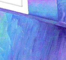 Purple crystal amethyst angel aura quartz geode Sticker