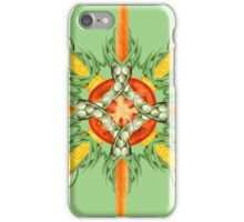 Carrot-Bean mandala--bean green iPhone Case/Skin