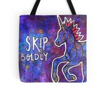 Skip Boldly. Magical Unicorn Watercolor Illustration. Tote Bag
