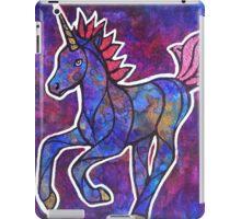Skip Boldly. Magical Unicorn Watercolor Illustration. iPad Case/Skin