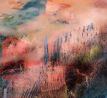 Colorful Auras...Grey Fences by Susan Werby