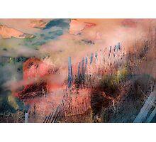 Colorful Auras...Grey Fences Photographic Print