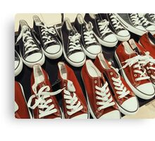 Classic Black And Red Sneakers Canvas Print