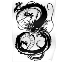 Black Dragon (1 color) Poster