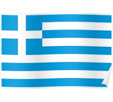 flag Greece Poster