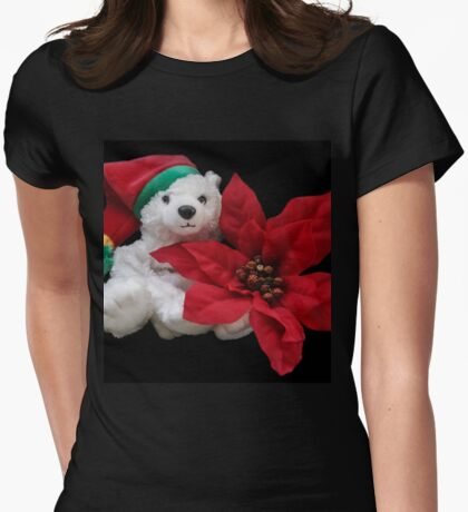 Christmas Teddy Womens Fitted T-Shirt
