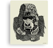 Gorilla Pen and Ink Drawing Canvas Print