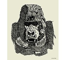 Gorilla Pen and Ink Drawing Photographic Print