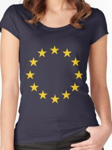 EU flag Women's Fitted Scoop T-Shirt