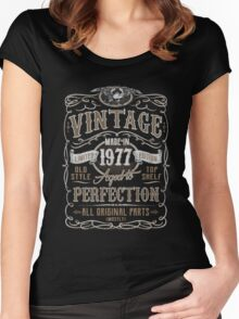 Made In 1977 Birthday Gift Idea Women's Fitted Scoop T-Shirt