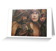 Allegory of the cave  acrylic on canvas Greeting Card