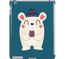 Polar Bear With A Gift iPad Case/Skin