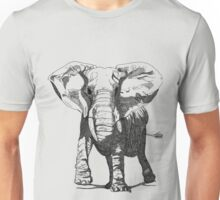 Elephant Pen and Ink Drawing Unisex T-Shirt