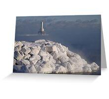 White Rocks and Port Washington Lighthouse Greeting Card